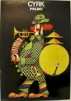 Polish Poster, 1 Man Band Clown Polski, Maciej Hibner, 1981