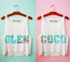 Glen Coco Best Friends Crop Tank Tops - Yotta Kilo (Best Friend Playeras)
