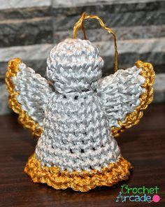 Crochet Arcade Designs: Crochet Angel Christmas Ornament Free Pattern