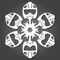 Rebel_Pilot Star Wars Snowflake.  Check it out at AnthonyHerreradesigns.com