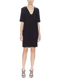 Deep V Shift Dress by L'Agence at Gilt