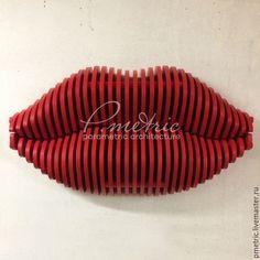 Купить Вешалка губы в красном цвете - ярко-красный, параметрическая, вешалка, губы, lips, parametric