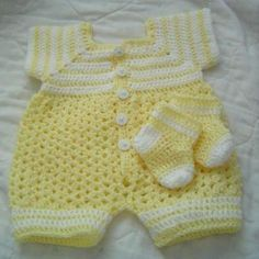 newborn boy romper crochet free pattern - Buscar con Google