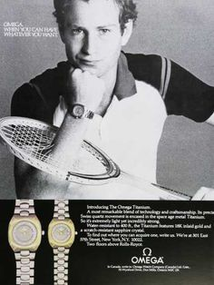 Vintage Tennis Ad of the 1980s