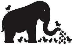 WallCandy Arts Baby Elephant Chalkboard - Best Price
