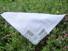 6 Piece Lace Cloth Napkins by colorfuldesings on Etsy