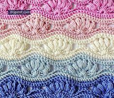 Ravelry: 0033 Ripple Puff Stitch pattern by MYpicot