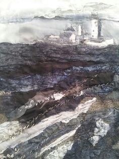 St Mary's Island Storm - Laura Edgar #textile art