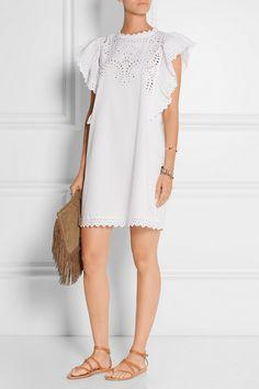 Étoile Isabel Marant|Scarla eyelet cotton mini dress|NET-A-PORTER.COM