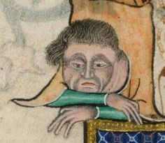Bored... Really bored ( Luttrell Psalter)  14 в. Англия.