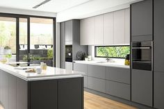 The Rule for Grey Kitchen Ideas Gray cabinets build anticipation for some other facets of the kitchen. Modern gray cabinets show a high degre. Kitchen Design Characteristics of Grey Kitchen Ideas Grey Kitchen Interior, Grey Kitchen Designs, Kitchen Room Design, Black Kitchens, Modern Kitchen Design, Kitchen Layout, Small Kitchens, Modern Kitchens, Diy Interior