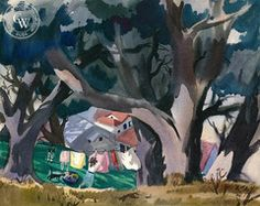 Mary Blair - Laundry Day, 1941 - California art - fine art print for sale, giclee watercolor print - Californiawatercolor.com