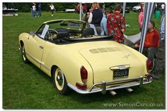 Yellow convertible Kharmann Ghia... my dream car