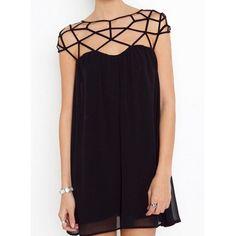 Geometric design dress #dress #black #dresses