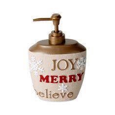 Happy Holidays Lotion Dispenser