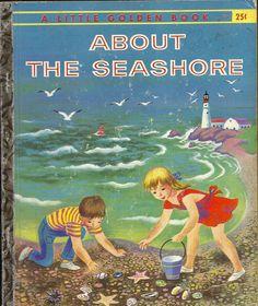 VINTAGE! 1950's Children's Little Golden Book~ABOUT THE SEASHORE 1st Ed.