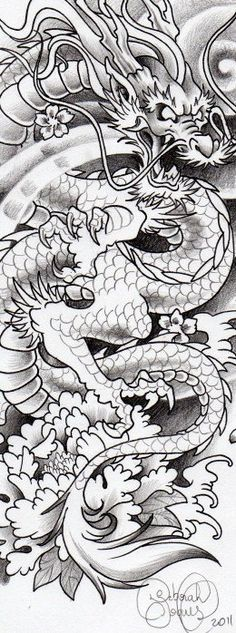 Dragon tattoo. Deborah Soares.