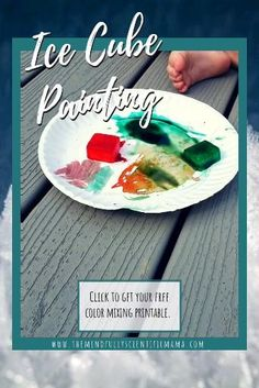 Use ice cube painting as a sensory, math, science or literacy activity. Simple and easy instructions, plus printables/e-files. Click to read more! #homeschooling #preschoolactivities #kidsactivities
