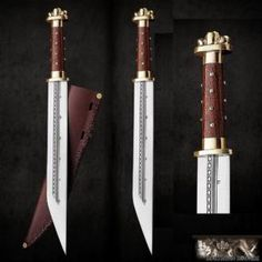 High Quality Merovingian/Viking Seax Or Sax With Leather Sheath