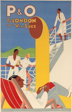 P&O to London via Suez, (1937) by Frank Hinder :: The Collection :: Art Gallery NSW