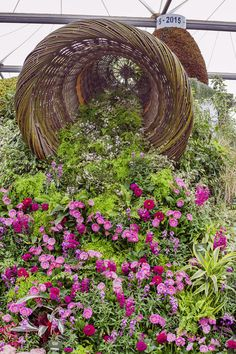 A huge bedding plant display at RHS Chelsea Flower Show by Birmingham City Council