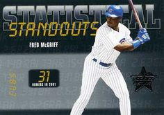 RARE 2002 LEAF ROOKIES & STARS STATISTICAL STANDOUTS FRED MCGRIFF CHICAGO CUBS