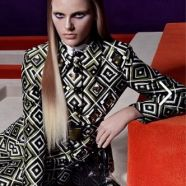 Prada launches its new range of handbags with a campaign starring model Lexi Bolling shot by Steven Meisel. Prada Double Bag, Fashion Tape, Cool Magazine, Steven Meisel, The Girl Who, Costume Accessories, Supermodels, Kimono Top, Women Wear