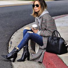 """10.5k Likes, 149 Comments - Erica Hoida • FashionedChic (@fashionedchicstyling) on Instagram: """"OOTD criss-crossed and caffeinated ➰☕️ Happy Monday! 