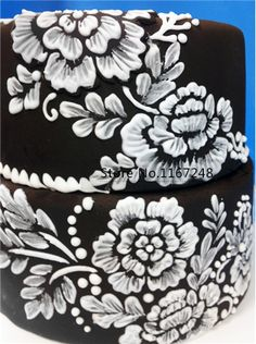 6pcs/lot Decorative Flowers And Leaves Cupcake Stencil By Design Stencil Frostings Spray Cookie Mold Cup Cake Decorations on Aliexpress.com | Alibaba Group