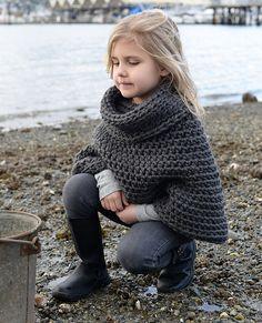 Agate Cape Crochet pattern by The Velvet Acorn Knitting For Kids, Crochet For Kids, Crochet Baby, Poncho Crochet, Blanket Crochet, Velvet Acorn, Knitting Patterns, Crochet Patterns, Poncho Patterns