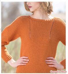 Доброго времени суток!  Очень приглянулся мне этот пуловер, расправлюсь с текущими проектами и засяду за него. Себе перевела, и вам делюсь)  Единственное, размеры европейские.