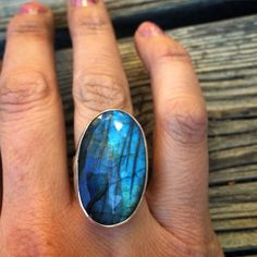 @maryaboast  #Friday night Labradorite #Cocktail ring