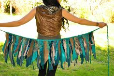 Time Traveler Pixie Skirt festival clothes by IntergalacticApparel