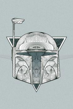 Boba Fett by Tom Ralston Star Wars Boba Fett, Star Wars Rebels, Star Wars Art, Star Trek, Other Galaxies, Aficionados, Nerd Art, Episode Iv, Call Art