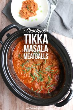 Crockpot Tikka Masala Meatballs. Oh man, these are so delicious! #Crockpot #Meatballs #Slowcooker