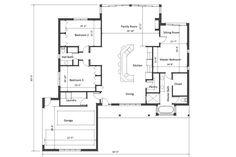 Ranch Style House Plan - 3 Beds 2.00 Baths 2100 Sq/Ft Plan #481-5 Floor Plan - Main Floor Plan - Houseplans.com