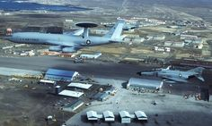 E-3A & F-4E's Over Keflavik Iceland. Our F15 engine shop is directly below this F4