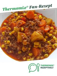 Minced meat stew with potatoes and vegetables from Katthree. A Thermomix ® rec . - Minced meat stew with potatoes and vegetables from Katthree. A Thermomix ® recipe from the main co - Pork Chop Recipes, Meat Recipes, Salad Recipes, Healthy Recipes, Rabbit Recipes, Healthy Eating Tips, Clean Eating Recipes, Mince Meat, Italian Recipes