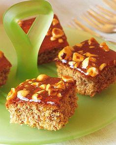 Glazed Hazelnut Squares Recipe | Martha Stewart  #Passover_recipes  #Pesach  #Passover_desserts  #hazelnuts