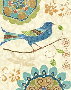 Eastern Tales Birds I Kunst von Daphne Brissonnet bei AllPosters.de
