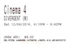 """This movie ticket: 