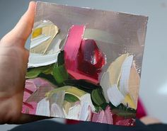 Roses no. 16 Original Oil Painting by Angela Moulton