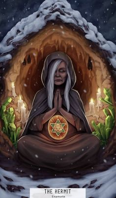 The Hermit - Card of the Day – The Hermit – Wednesday, May 2019 « Tarot by Cecelia Wicca, Madonna, Tarot By Cecelia, The Magician Tarot, Fantasy Magician, The Hermit Tarot, Spirited Art, Major Arcana, Oracle Cards