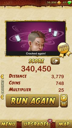 I got 340450 points while escaping from a Giant Demon Monkey. Beat that! http://bitly.com/TempleRun2iOS