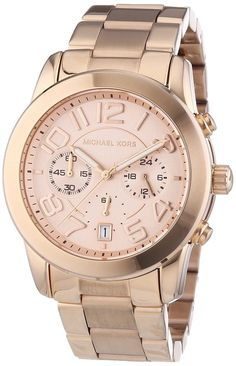 Michael Kors Rose Gold-Tone Mercer Watch
