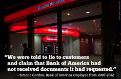 """Bank of America Lied to Homeowners and Rewarded Foreclosures, Former Employees Say  -  ProPublica http://www.propublica.org/article/bank-of-america-lied-to-homeowners-and-rewarded-foreclosures  No wonder so much paperwork was """"lost.""""  Why does anyone still bank with BofA?"""
