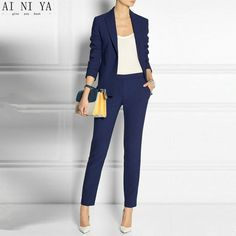 Suits & Sets Royal Blue Women Pant Suit Formal Ladies Business Suits Office Work Wear Female Suit For Weddings Female Suit Custom Made To Win A High Admiration And Is Widely Trusted At Home And Abroad. Pant Suits