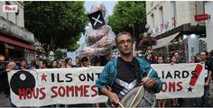 Seasonal workers protest march marked  the 2014 summer season at Avignon (Credit Twitter)