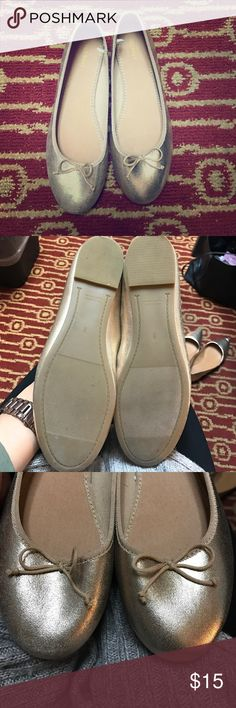 Old Navy pale gold flats Never worn gold flats! These are perfect for any occasion and comfy! Old Navy Shoes Flats & Loafers