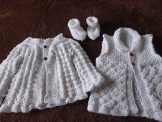 Conjuntinho para bebê em tricô
